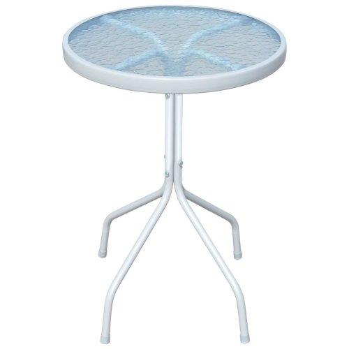 vidaXL Outdoor Table 50x71 cm Steel Round Grey