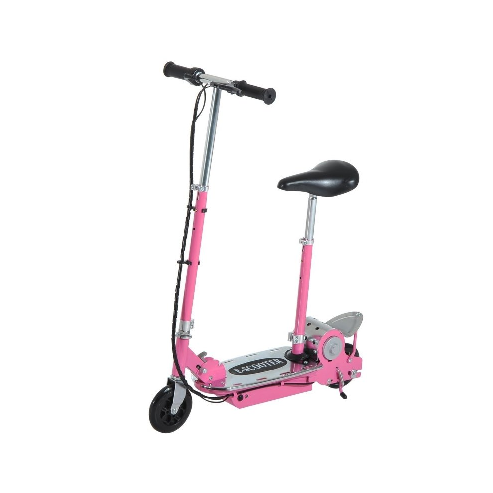 homcom foldable e scooter 24v rechargeable battery on onbuy. Black Bedroom Furniture Sets. Home Design Ideas