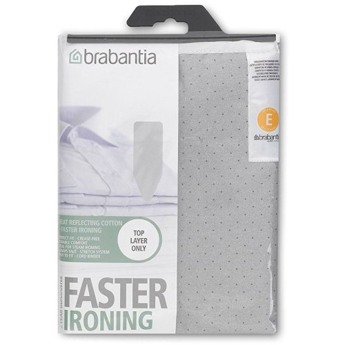 Brabantia Metalised Ironing Board Cover Size E 135cm x 49cm  - Silver