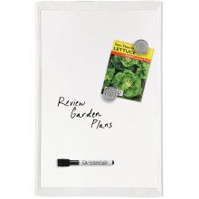 """Magnetic Dry Erase Board 11""""X17""""-White"""