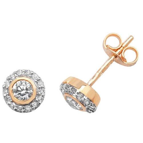 5985e6256fcdc 9ct Yellow Gold 0.25ct Diamond Stud Earrings
