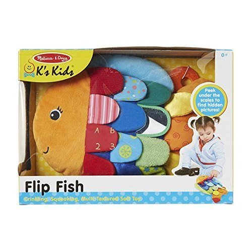 Melissa & Doug Infant - Child Flip Fish Multi - Textured Soft Toy fnt