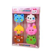 Animal Modeling Colorful Creative Pencil Erasers for Student 4Pcs