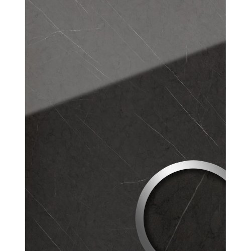 WallFace 19344 MARBLE GREY Decor Panel marble look glossy anthracite 2.6 sqm
