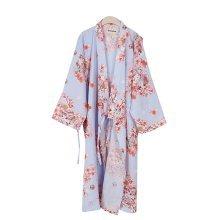 Light purple Cotton Pajamas Khan Steamed Clothing Loose Pajamas Yukata