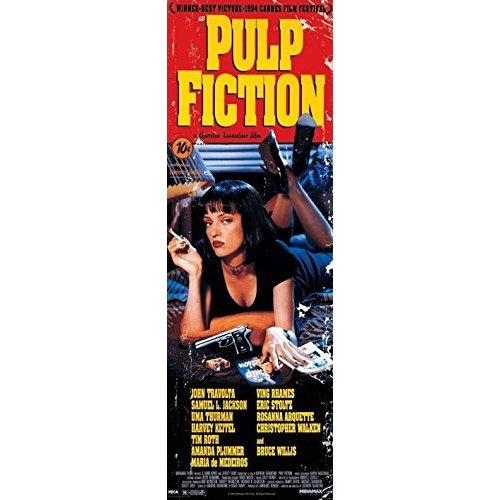 Pulp Fiction (cover) - Pyramid International Cover Door Poster 53 x 158cm Paper -  pyramid international pulp fiction cover door poster 53 x 158cm