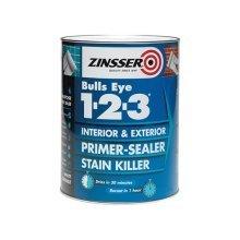 Zinsser ZINBE12325L 2.5 Litre 123 Bulls Eye Primer/Sealer Paint
