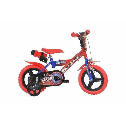 Dino Spiderman Kids Bike with Stabilisers