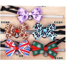 [Leopard] Bowknot Collar/Bow-Tie with Bell for Cat & Dog(Random Color)