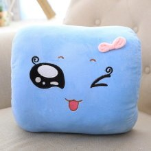 Cute Hand Hold Pillow Office Nap Rest Pillow Naughty Emoji Warm Hand Pillow Blue