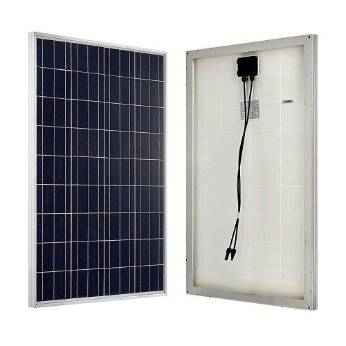 ECO-WORTHY 100W 12 Volt Solar Panel Polycrystalline 100 Watt Solar Module for Battery Charging