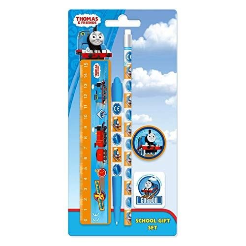 THOMAS THE TANK ENGINE | Thomas & Friends School Stationery Set | 5 Items perfect for Pencil Case