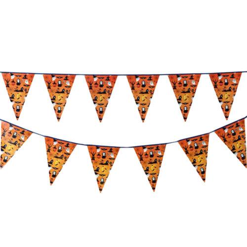 2PCS Halloween Ghost Triangle Flag House Party Decor 22CM