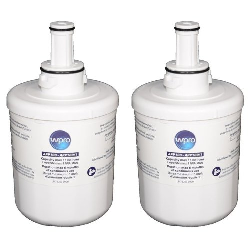 2 X Wpro Fridge Internal Water Filter For Samsung & Maytag