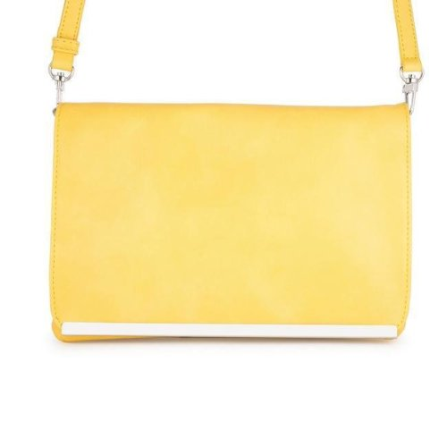1ab2bd9251 J Goodin TW-0057-YELLOW Martha Leather Purse Clutch with Silver Hardware,  Yellow on OnBuy