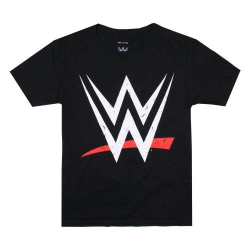 7bda1cb5763cc WWE Logo Boys T-shirt Black on OnBuy