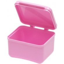 Hinged Lid Denture Holder Bowl - Denture Bowl Hinged Lid Blue False Teeth Holder Container Storage Box Accessory