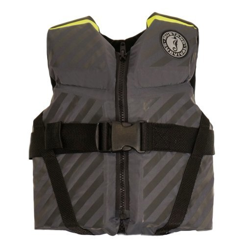 Mustang Survival Lil Legends 70 Flotation Vest, Gray/Fluorescent Yellow Green, Youth