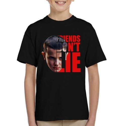 Stranger Things Eleven Half Head Text Kid's T-Shirt