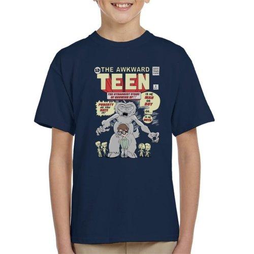 Big Mouth The Awkward Teen Comic Kid's T-Shirt