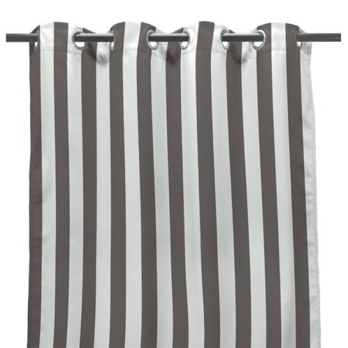 Jordan 3VOC5484-4336Q 54 x 84 in. Outdoor Curtain Panel in Gray Stripe