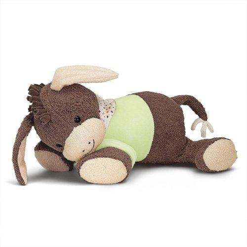 Sterntaler Soft Toy with Heartbeat, Emmi the Donkey, Age: For Babies from Birth, 30 cm, Brown