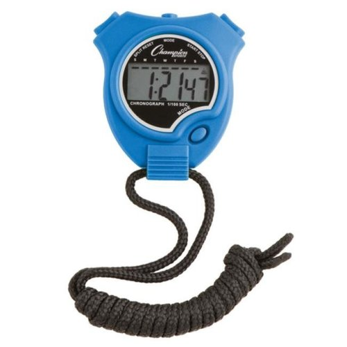 Champion Sports 910BL Stop Watch, Royal Blue