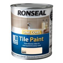 Ronseal One Coat Tile Paint 750ml - SATIN Magnolia