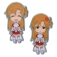 Sword Art Online Anime S.A.O. Happy & Angry Asuna Pin Set