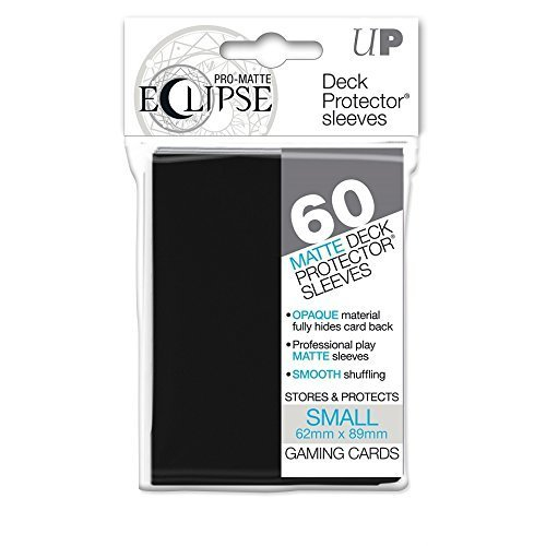 PRO-Matte Eclipse Black Small Deck Protector sleeves (60 count pack)