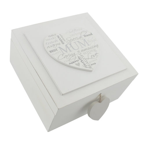 Heartfelt Moments MDF Square Keepsake Box Mum