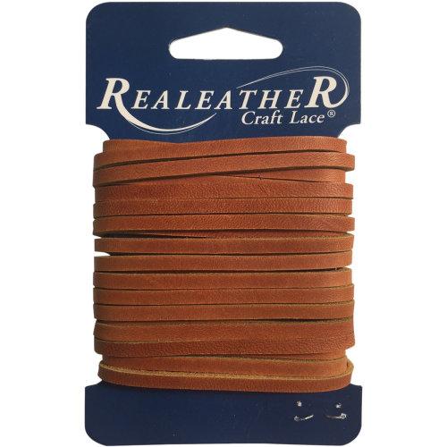 "Realeather Crafts Latigo Lace .125""X4yd Carded-Chieftan"