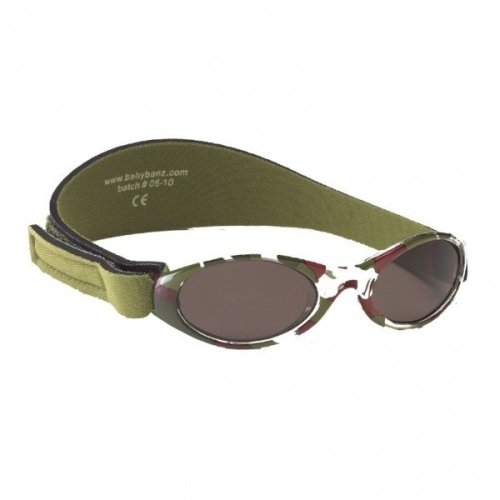 Baby Banz 0-2 Uv Sunglasses €? Adventurer, Green Camouflage