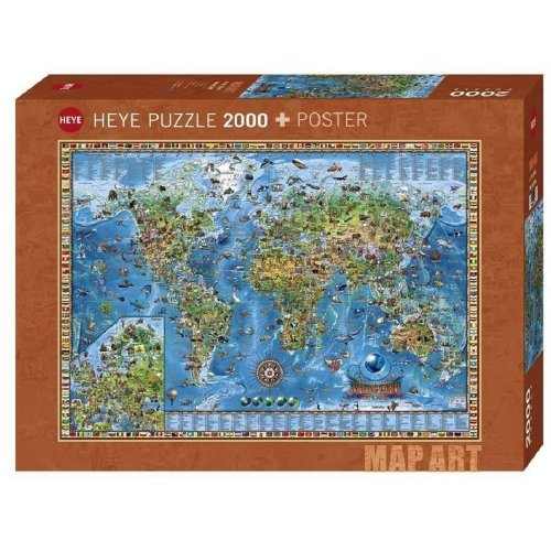 HY29846 - Heye Puzzles - 2000 Pc - Amazing World