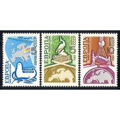 Russia 1989 Birds  /  Nature  /  Animation  /  Peace 3v set n30271