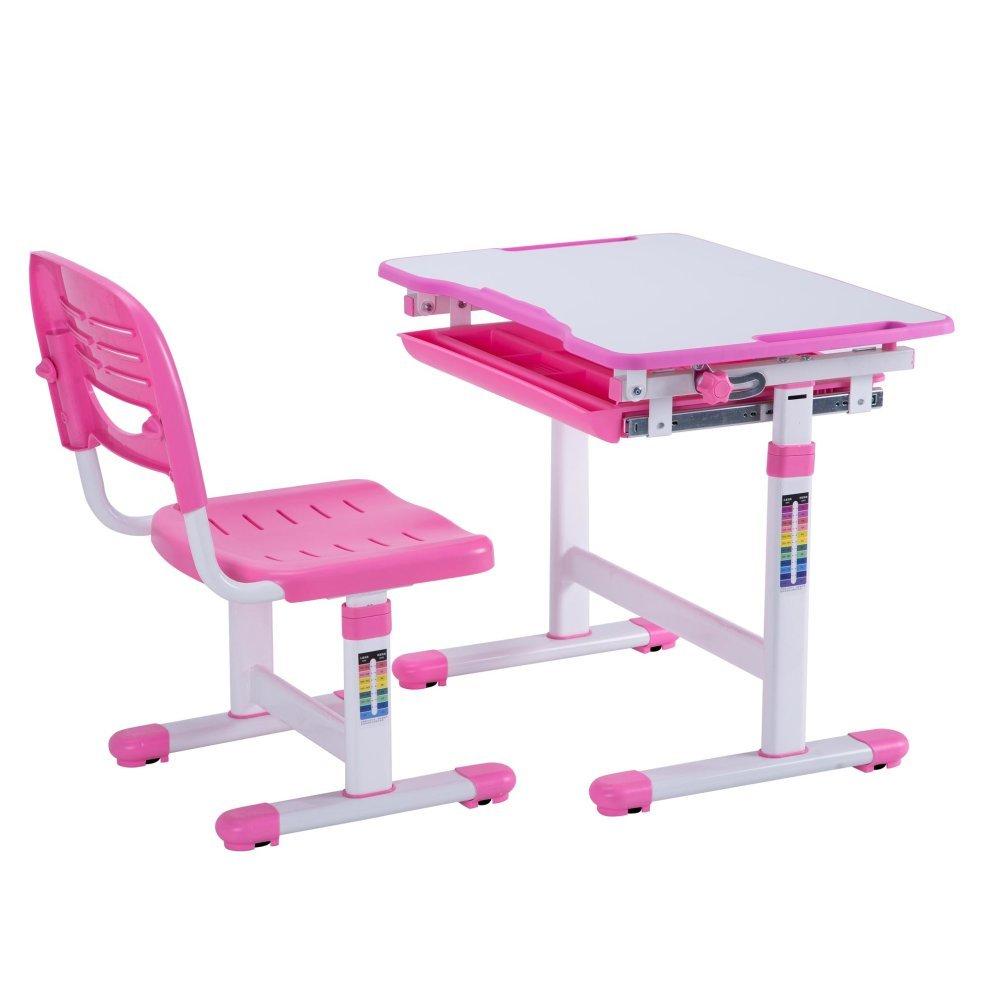 Mini Height Adjule Pink Kids Desk