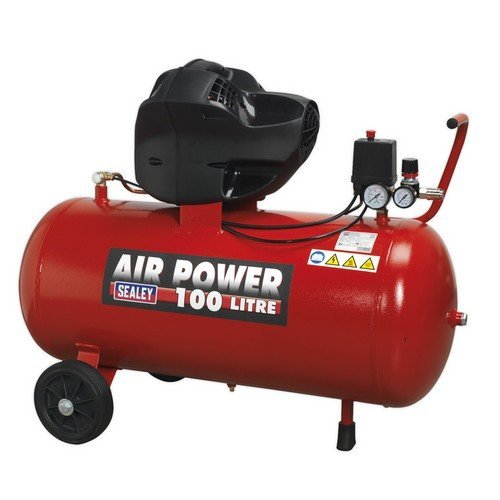 Sealey SAC10030F Compressor 100 Litre V-Twin Belt Drive 3hp Oil Free