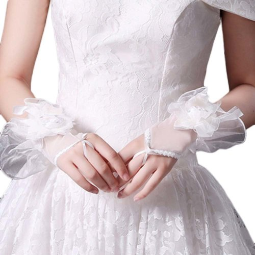 Bridal Wedding Gloves Party Dress Lace Short Gloves B11