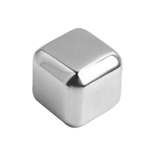 Set of 2 Stainless Steel Ice Cube Stainless Steel Reusable Ice Cubes [Square]