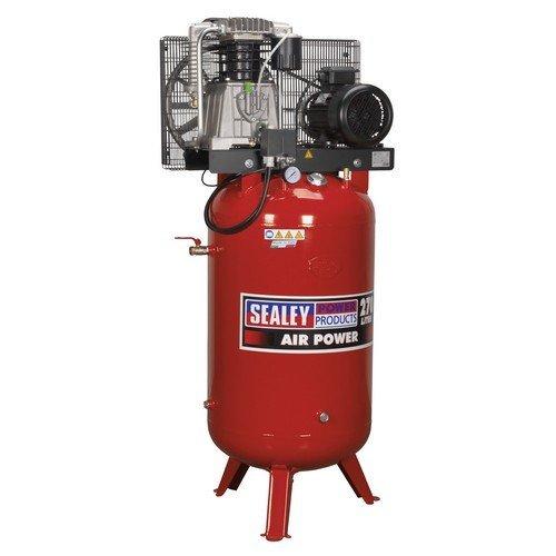 Sealey SACV52775B Compressor 270ltr Vertical Belt Drive 7.5hp 3ph 2-Stage