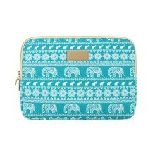 Blue Elephant Double Zipper Design Laptop Protection Bag