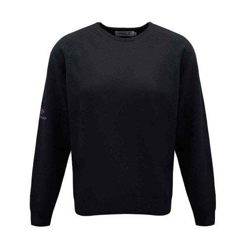ProQuip Golf Julia Ladies Lambswool Sweater Crew Neck Jumper Black XX-Large