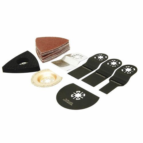 27pc Oscillating Multi Tool Accessory Cutting Blades & Accessories Rolson R48222