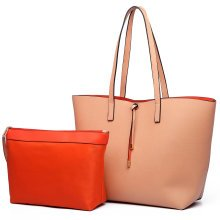 Miss Lulu Faux Leather Shoulder Handbag