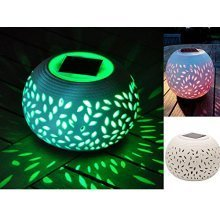Colour Changing Decorative Solar LED Filigree Table Light Garden Patio Party NEW
