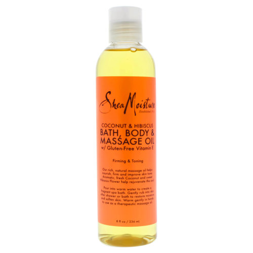 Coconut & Hibiscus Bath-Body & Massage Oil Firming & Toning by Shea Moisture for Unisex - 8 oz Oil
