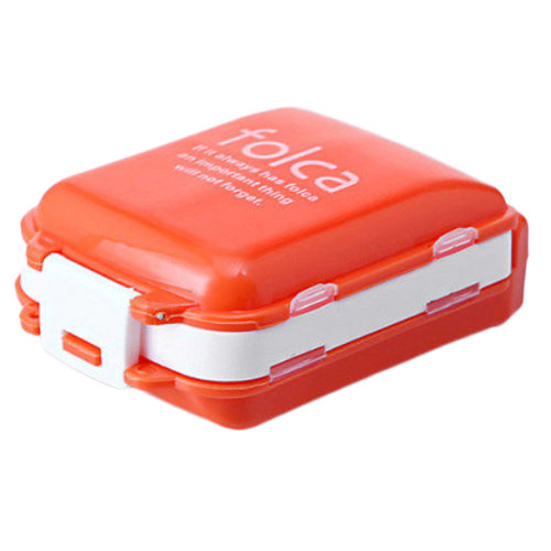 Portable 7 Day Pill Reminder Medicine Storage Container Pill Case, Orange
