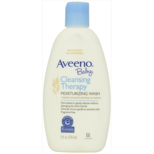 Aveeno Baby Cleansing Therapy Moisturizing Wash Fragrance-Free, 8 Oz.