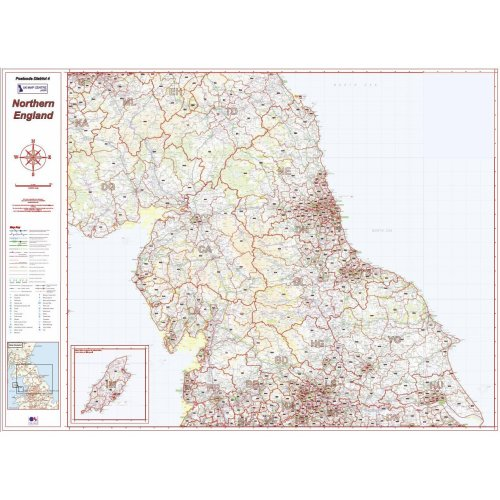 Postcode District Map 4 - Northern England