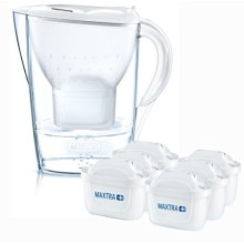 (White) BRITA Marella Cool Water Jug & 6 MAXTRA+ Filters